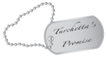 A military style dog tags with chain.