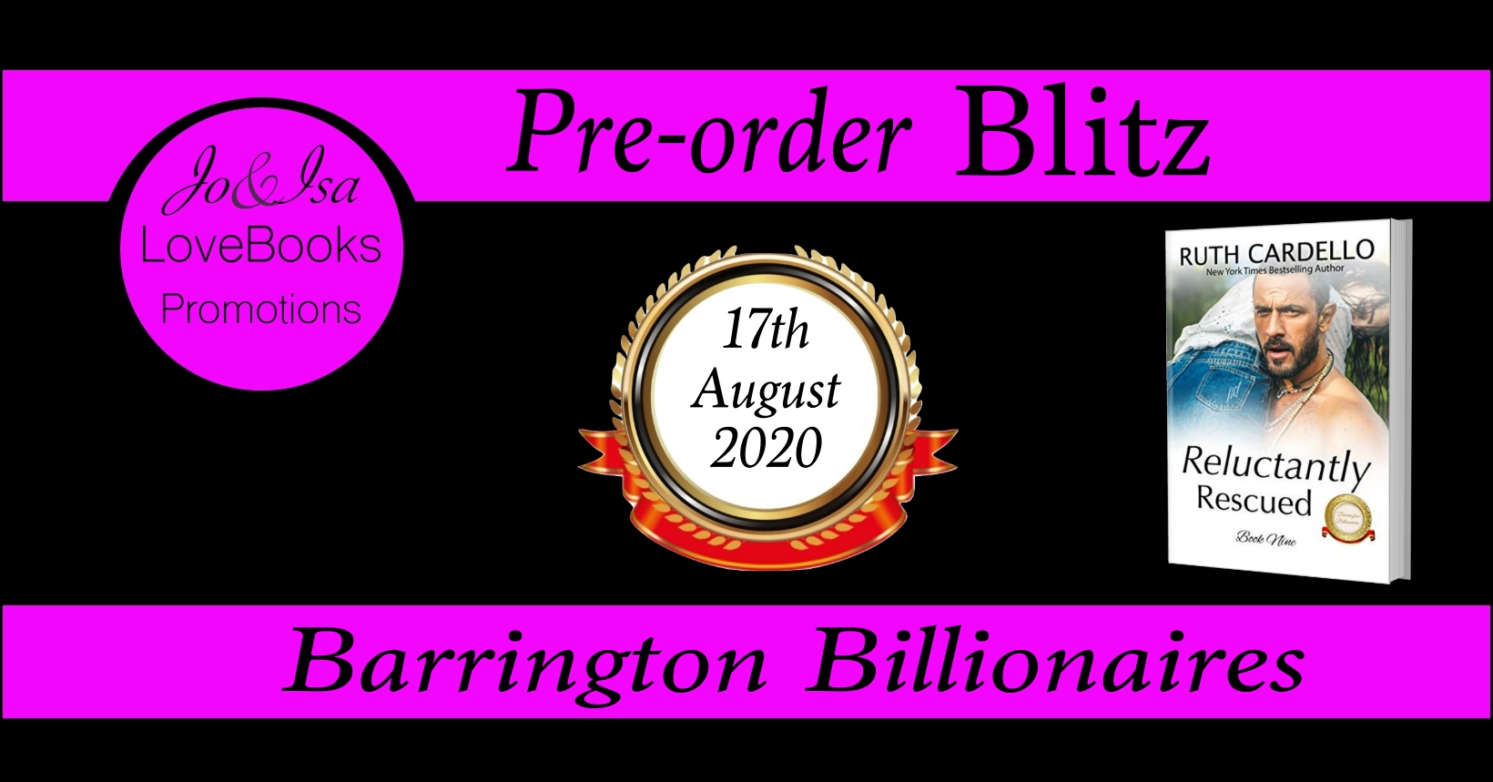 PREORDER RELUCTANTLY RESCUED BANNER